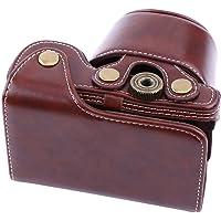 Estuche de Cuero con Bolsa de Cuero y Correa para el Hombro para cámara Sony A6000 y 16-50mm (Café)