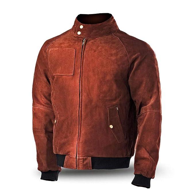 Bela Chaquetas para Hombres Galaxy Bomber Leather Jacket Ultra Elegante Chaqueta Moto de Cuero Suave (