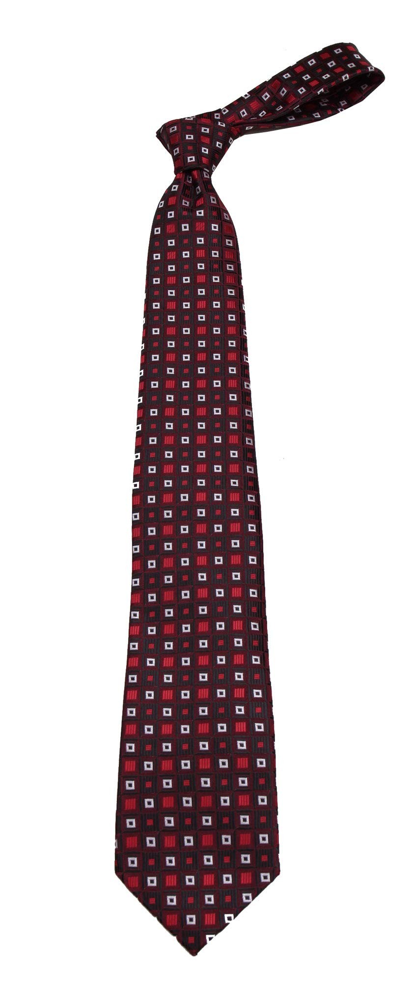 B-11704 - Boys Youth Burgundy Pattern Designer Necktie Ties by Basilio (Image #1)
