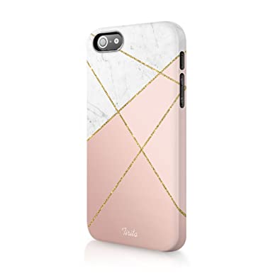 new style 79b12 88dc0 Iphone 5c Tirita Hard Case Phone Cover Golden Marble Pink PRINTED GLITTER,  NO REAL GLITTER Trendy Fashion Gift Present Cute Design