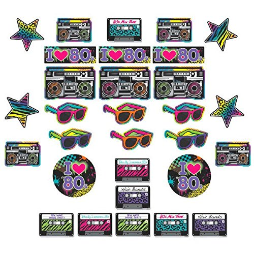 80's Mega Value Pack Party Cutout Kit Affordable Wedding Cd Favors