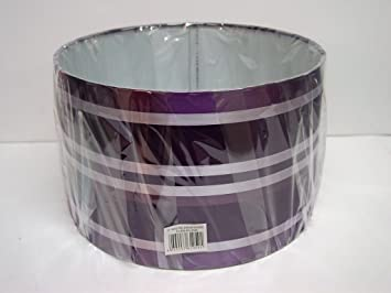 11 ribbon drum shade pendant lampshade ceiling lightpurple 11 ribbon drum shade pendant lampshade ceiling lightpurple plumsilver amazon kitchen home mozeypictures Images