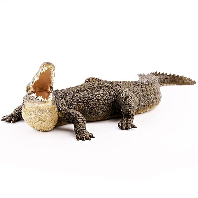 Papo - Cocodrilo del Nilo, figura de animal de selva pintada a mano ...