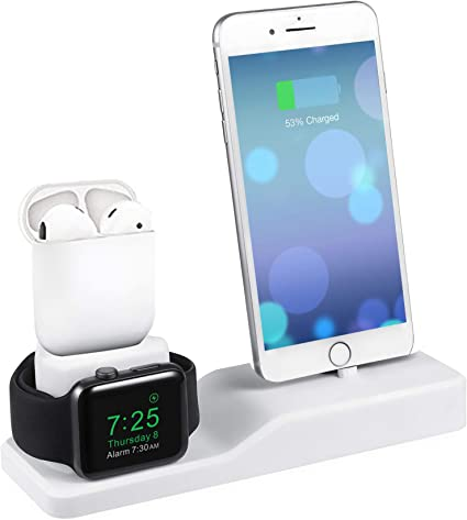 MOTOSPEED for Apple Watch Charging Station,Charging Stand for Apple Watch Series 5/4/3/2/1/ AirPods/iPhone 11/Xs/Xs Max/Xr/X/8/8 Plus/7/7 Plus/6/- ...