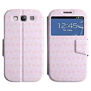 Be-Star Diseño Impreso Colorido Slim Casa Carcasa Funda Case PU Cuero - Stand Function para Samsung Galaxy S3 III / i9300 / i717 ( Pink Roses )