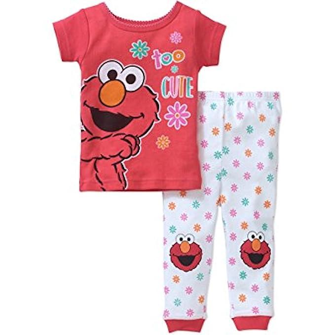 154d266c13 Amazon.com  Sesame Street Baby Girl s 9 Months Too Cute ELMO Cotton ...
