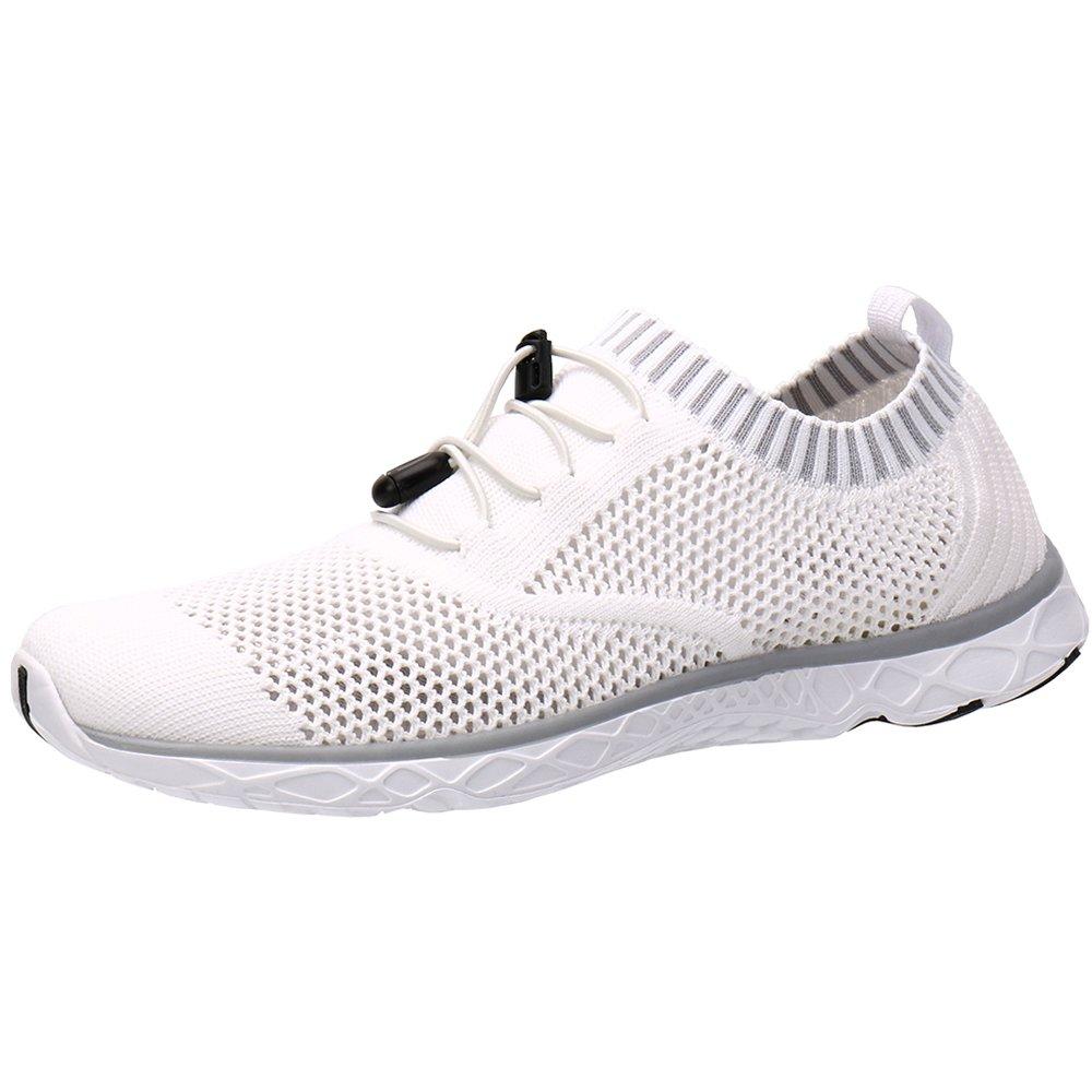 ALEADER Men's Adventure Aquatic Water Shoes White/Gray 10.5 D(M) US