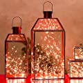 LED SopoTek 7ft 20 LEDS Red Starry Lights Fairy Lights silver LED Lights Strings AA Battery Powered Ultra Thin String Wire(20 Leds Red Battery not included)
