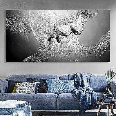 Amazon.de: Essort Wandbild, Druck auf Leinwand, schwarz-weiß, Motiv ...