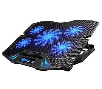 Link-e ® - Soporte enfriador gaming a 5 ventiladores para PC portátil , notebook, PS4, Xbox One.