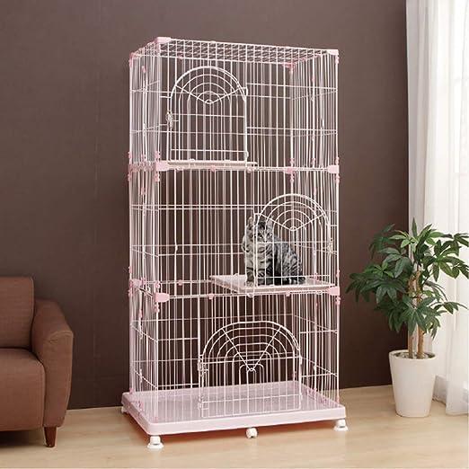 QNMM Jaula para Gatos Grande Jaula para Gatitos Caja para Mascotas ...