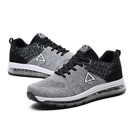 Fexkean Herren Air Cushion Luftkissen Laufschuhe Sportschuhe Turnschuhe Sneaker Casual Gym Walking Schuhe(8067Red41) 8ZQvwY