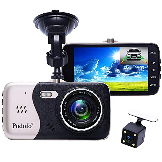 Amazon Com In Car Dash Cam Podofo Dual Lens Full Hd 1080p Car