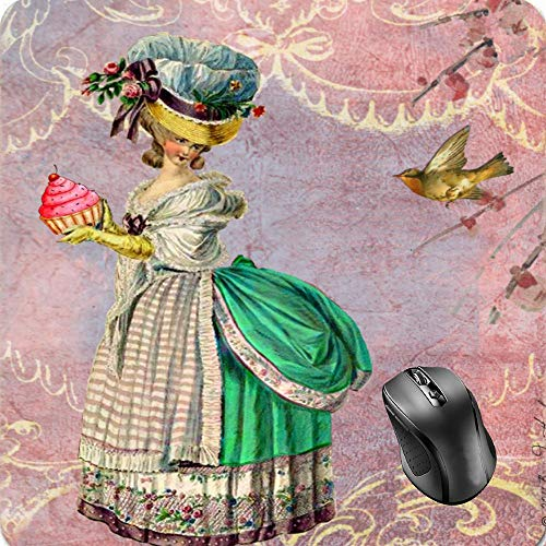 SHAQ Marie Antoinette with Cupcake & Bird Mouse Pad 8.6 X 7.1 ()