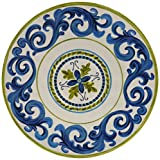 Certified International Corp Blue Grotto Melamine Dinner Plate (Set of 6), 11-Inch, Multicolor