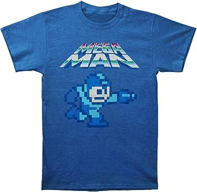 Megaman Bombilla LED Pixel Camiseta – Azul: Amazon.es: Ropa y accesorios