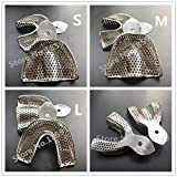 6pcs/set Dental Impression trays(Small Medium Large) upper and Lowers stainless steel