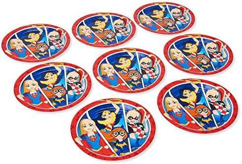 American Greetings DC Super Hero Girls Dinner Plates