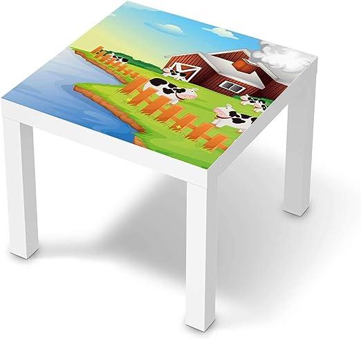 creatisto Möbel Tattoo für Kinder passend für IKEA Lack Tisch 55x55 cm I Tolle Möbelsticker für Kinderzimmer Einrichtung I Design: Cowfarm 2
