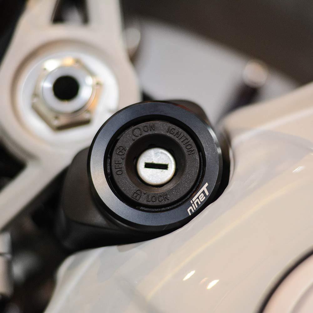 anillo de motocicleta protector de llavero Oldbones cubierta para interruptor de encendido de motocicleta cubierta de bloqueo de asiento para BMW R Nine-T R 9T 2014 2015 2016