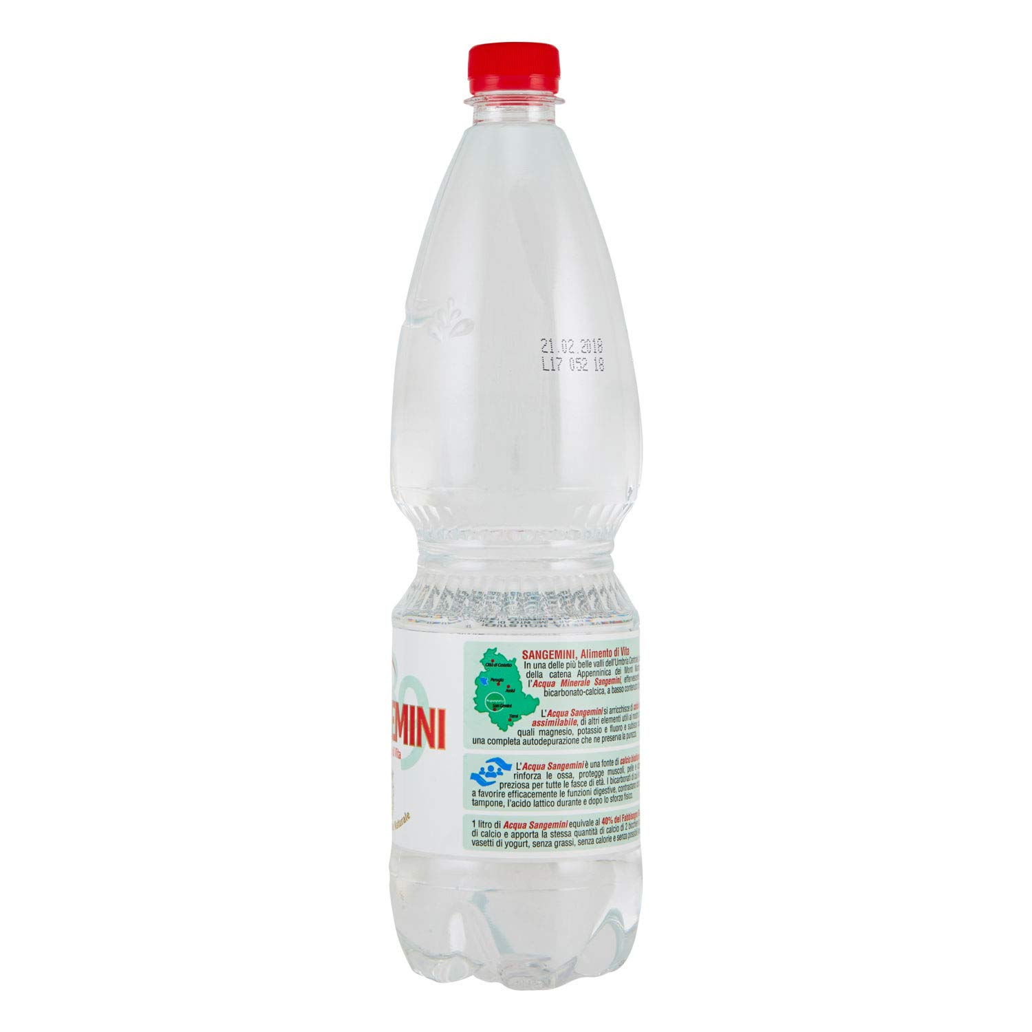 Amazon.com : Sangemini: Natural Mineral Water * 2.11 Pints (1l) Bottles (Pack of 6) * [ Italian Import ] : Grocery & Gourmet Food