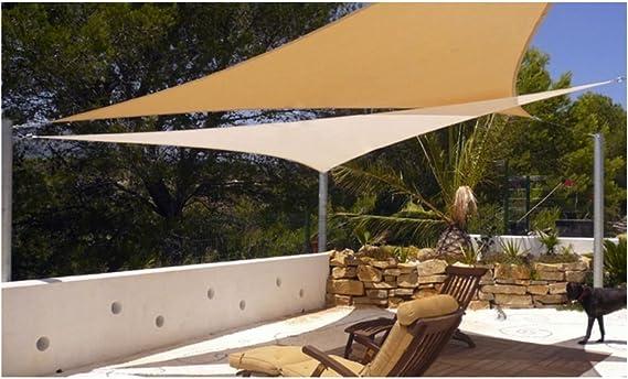 vidaXL Top Shop Sombrilla Triangular 3, 6x3, 6x3, 6mt Resiste los Rayos UV en HDPE Transpirable Crema: Amazon.es: Jardín
