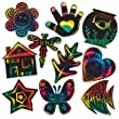 Scratch-Art Creative Shapes (pack of 50)