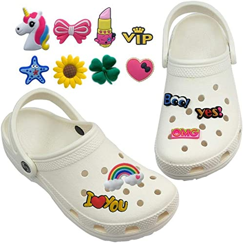 Lankater 44 Pcs PVC Shoe Charms Mignon Forme De Fleur Bracelet Wristband D/écorations Accessoires