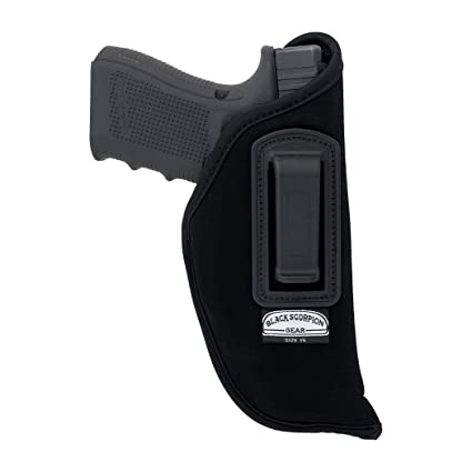 Black Scorpion BSG15N Speedy Neoprene or Nylon IWB Universal Holster  Concealed Carry-Fits all Glock 17,22,20,21/S&W MP full,Sigma full/Beretta