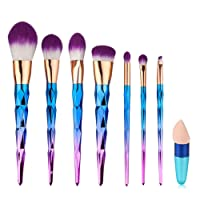 Cadrim Pinceau Maquillage 7Pcs Pinceaux Professionnel Ensemble de Pinceaux de Maquillage Kit de Brosse à Ombre Brosse à Paupières Pinceaux Cosmétique Pinceau avec 1pcs Anticernes Brosse
