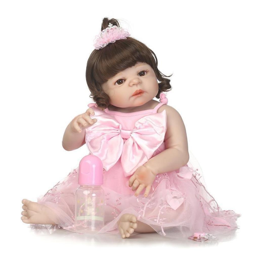 GHCX Simulation Simulation Simulation Reborn Puppe Silikon Süßes Baby Kann Das Wasser Begleiter Spielzeug Baby Kreative Geschenk 57CM Eingeben e29d32