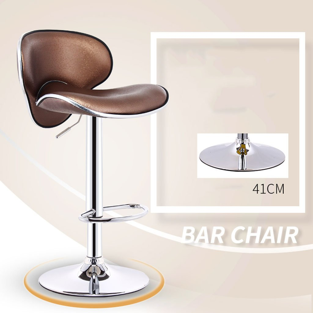 6 European Leatherette Exterior + High-Strength Sponge Bar Chair Fashion Bar Stools Gas Lift Adjustable Swive Chair Cash Register at The Front Desk Swivel Chair Leisure Chair Bar Stool High Stool