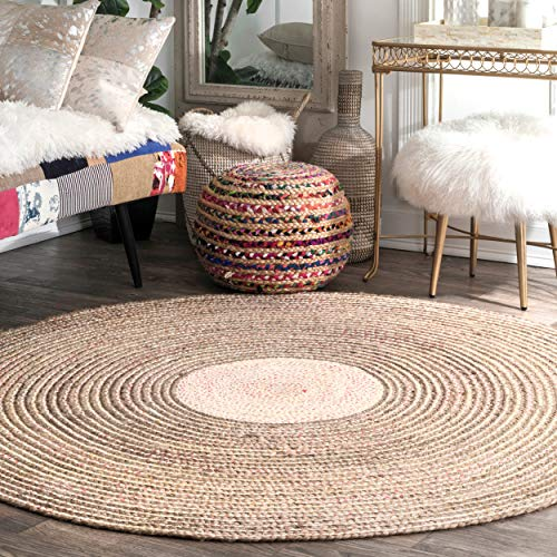 nuLOOM Draya Braided Wool Rug, 6 Round, Multi