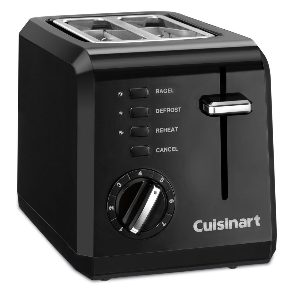Cuisinart Compact 2-Slice Toaster - CPT-122 - Black