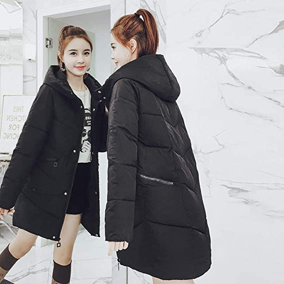 Amazon.com: DICPOLIA Womens Thick Hooded Down Jacket Coat Winter Warm Long Overcoat Outwear: Clothing