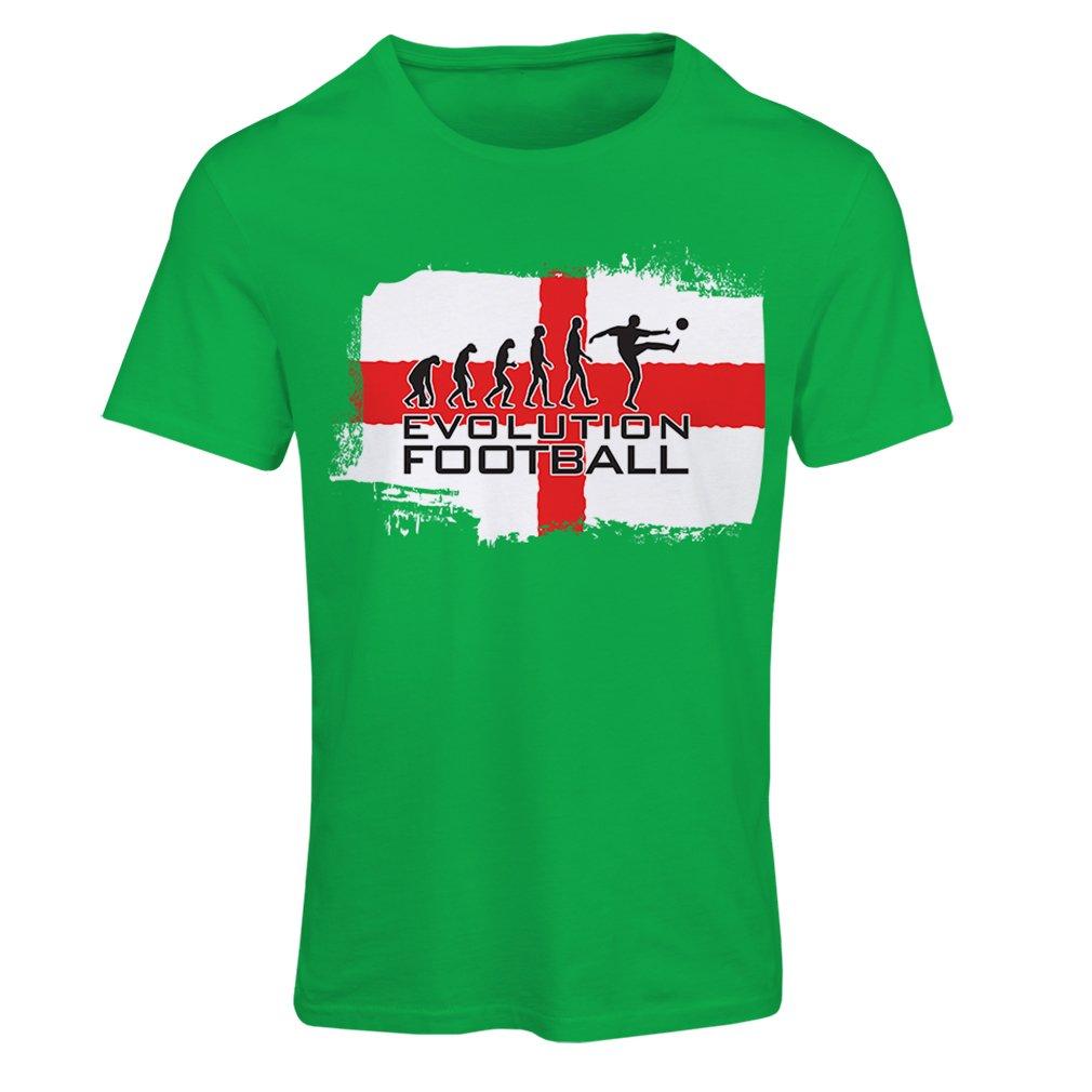 lepni.me Camiseta Mujer La evolución de fútbol - Inglaterra, Campeonato de Rusia 2018, Copa del Mundo - Camisa del admirador de Equipo del fútbol Inglesa: ...