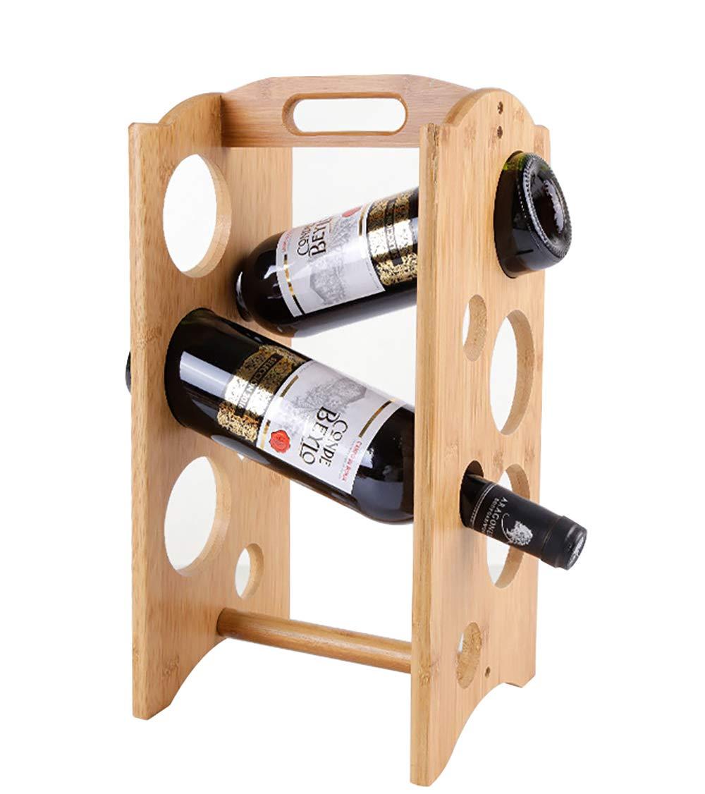 Bamboo Wine Rack Storage Stand Bottle Shelves Countertop Bottles Shelving Display Shelves For Home Decorations Gift