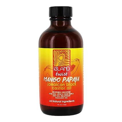 Island Twist - Aceite de ricino negro de Jamaica Papago Mango - 4 la Florida.