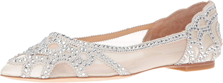 Badgley Mischka Womens Gigi Pointed Toe Flat