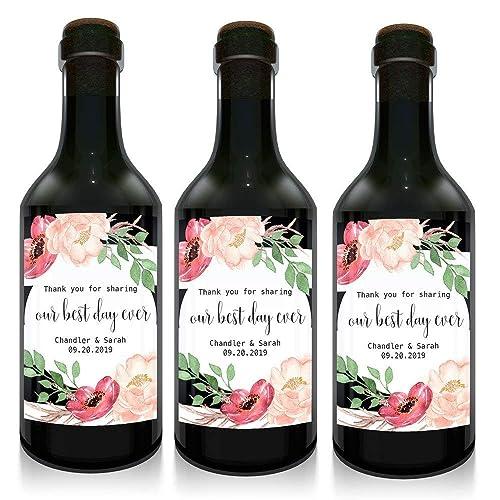 Amazon Thank You Mini Wine Small Bottle Label For Wedding