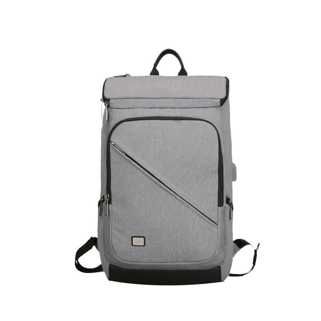 DS- スクールバッグ バックパックメンズビジネスカジュアルコンピュータバッグ短距離ビジネス手荷物バッグオックスフォード大容量バックパック&& (色 : Gray)  Gray B07LBNT8PS