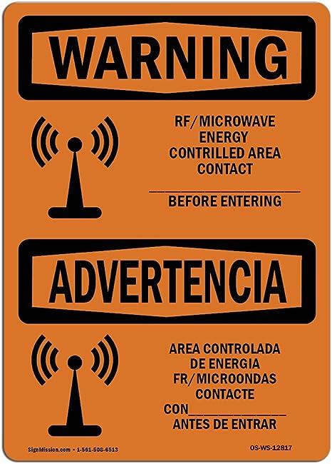 Amazon.com : OSHA Waring Sign - Rf Microwave Energy ...