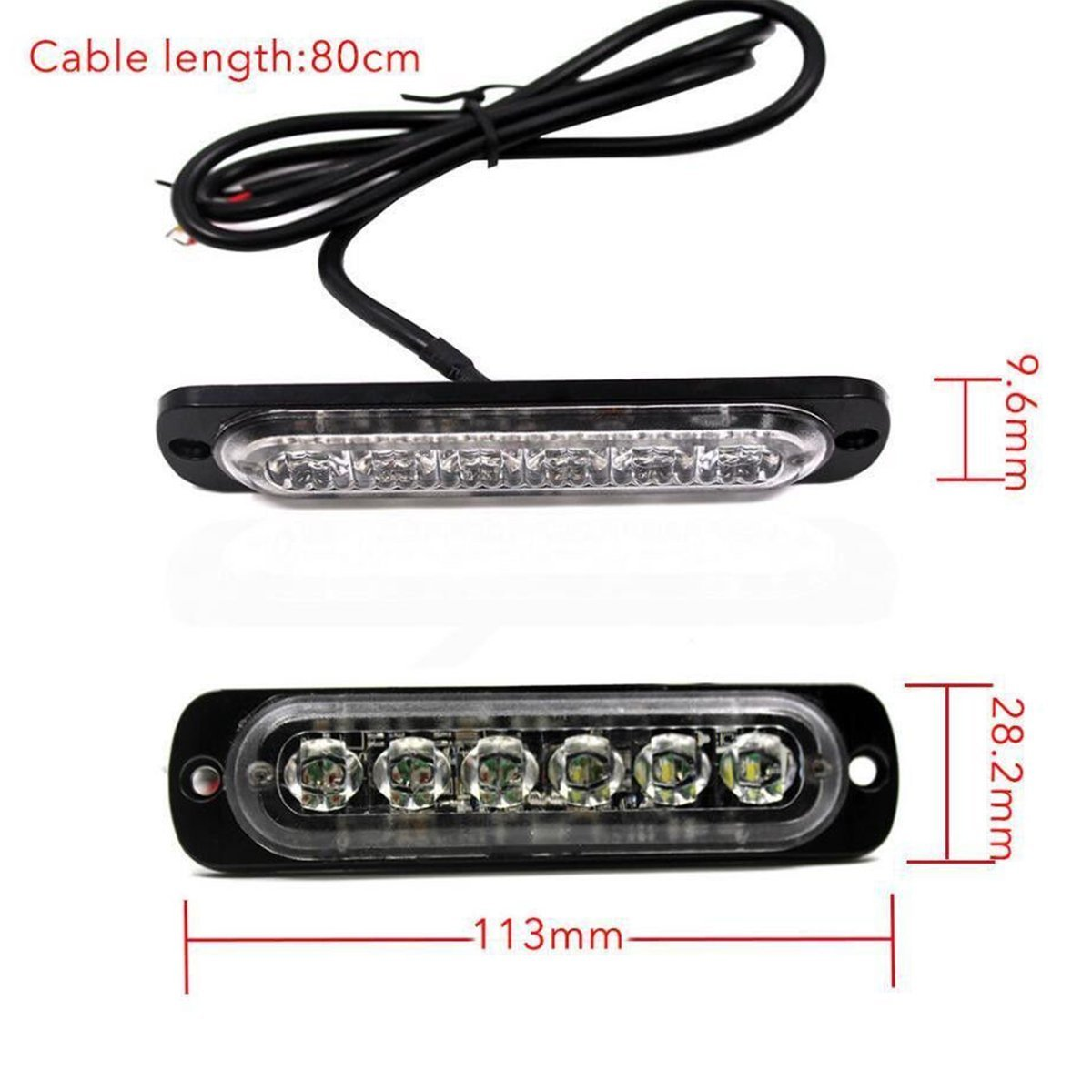 AutoRocking 4 PCS LED Car Emergency Lights Flashing Strobe Light Bar for Cars Trucks Lorries Motorcycles 12-24V IPX-4