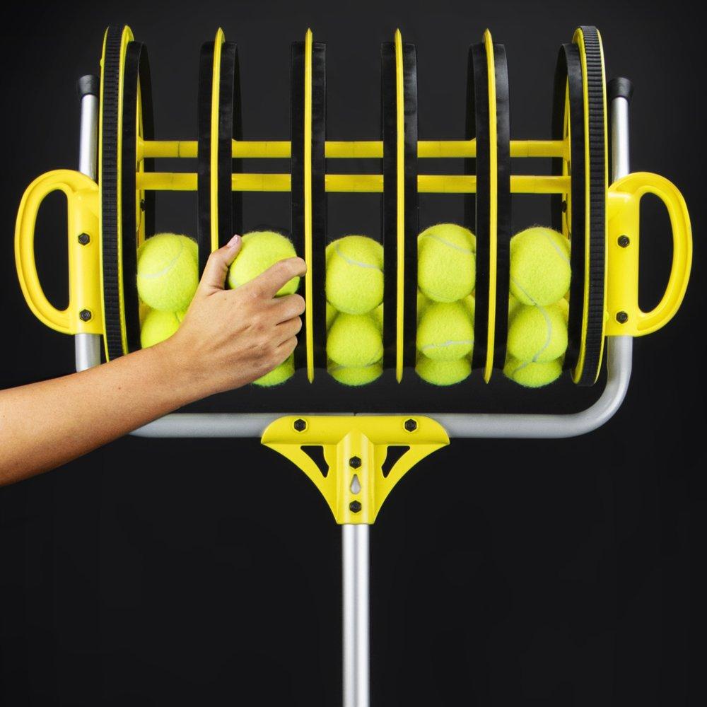 Deluxe Roller Tennis Ball Collector - Includes 25 Bonus Practice Balls! by Crown (Image #2)