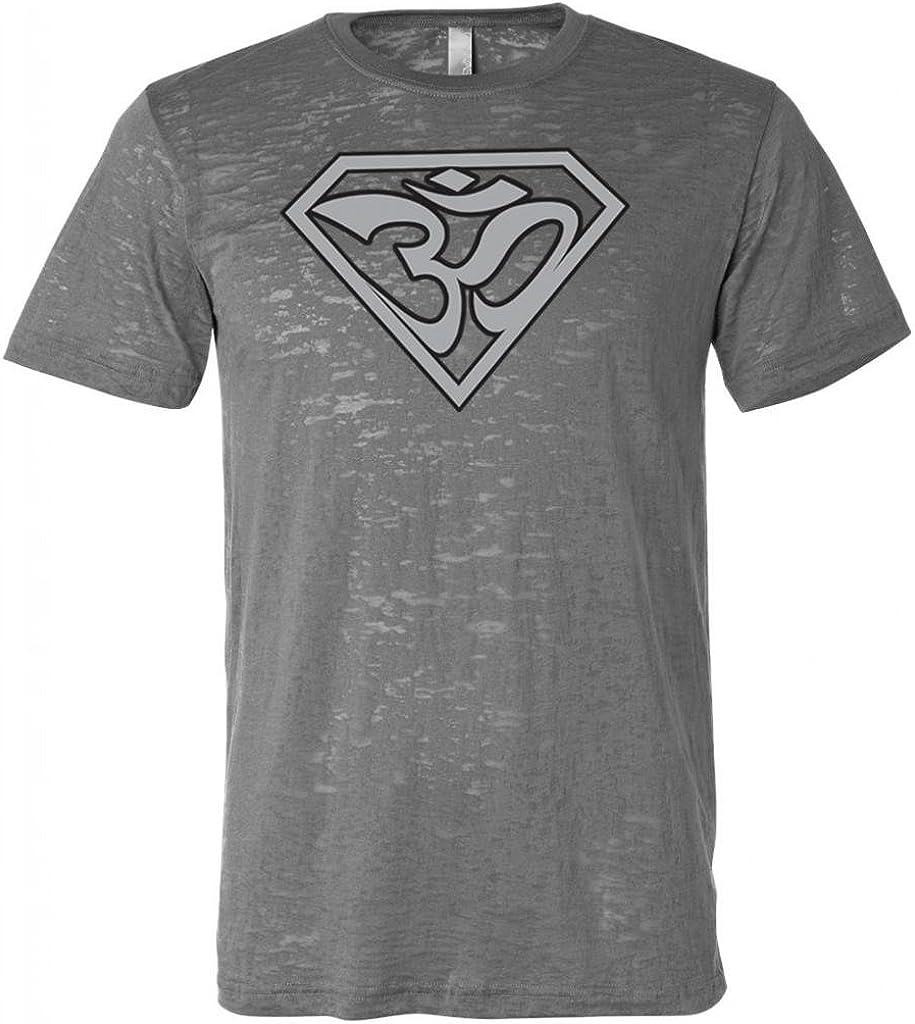 Yoga Clothing For You Super OM Mens Burnout Tee Shirt