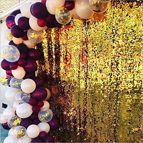 Kit de arcos y guirnaldas cumplea/ños bodas baby shower color borgo/ña vino dorado confeti globo para graduaci/ón decoraciones de fiestas 102 unidades boda VSTON