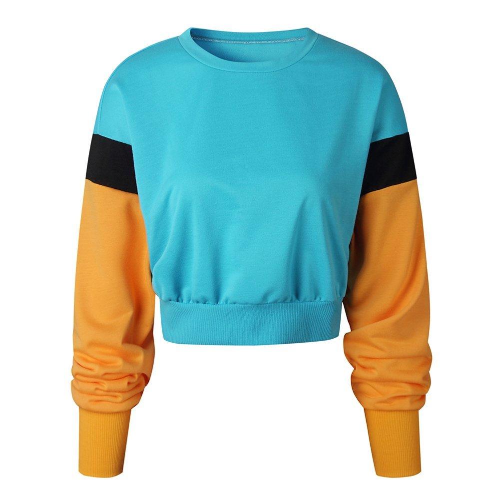 Starstreetcom Women Sweater Jumper Winter Long Sleeve O Neck Color Blocks Knitted Jumper Sweatshirt Pullover Tops