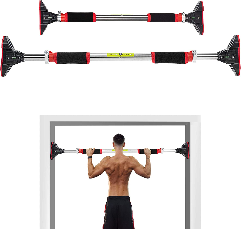 Pro Tür Chin-Up Pull-Up Bar Oberkörper ABS Gym Fitnesstraining Stärke 100-130CM