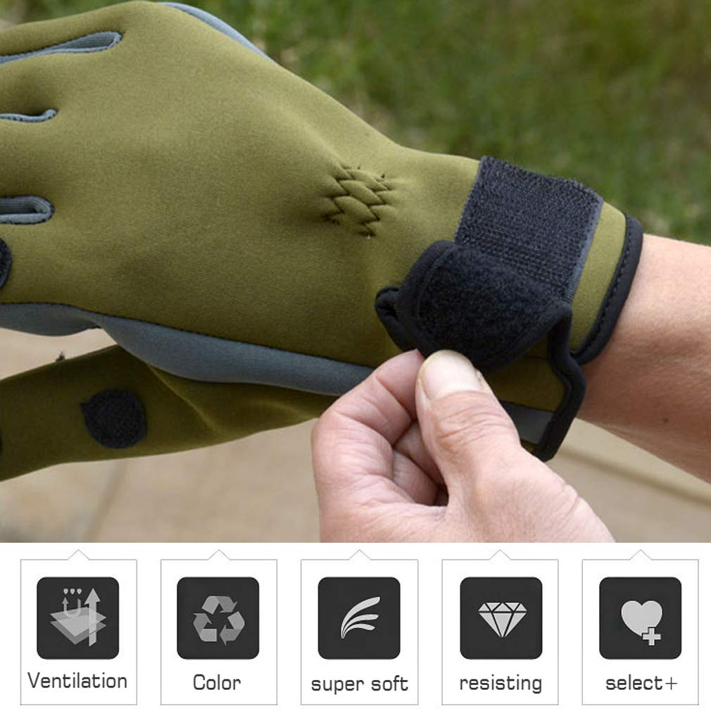 Qbuds Flexible Fishing Gloves Warm for Men and Women Cold Weather Insulated Water Repellent Great for Ice Fishing Fly Fishing Photography Motorcycling Running Shooting Cycling Hiking