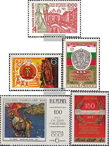 Soviet Union 4274,4275,4276,4283,4284 (Complete.Issue.) 1974 Witebsk, DDR, Bulgaria, Theater u. (Stamps for Collectors)